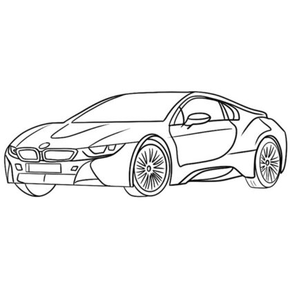 BMW i8 Coloring Book