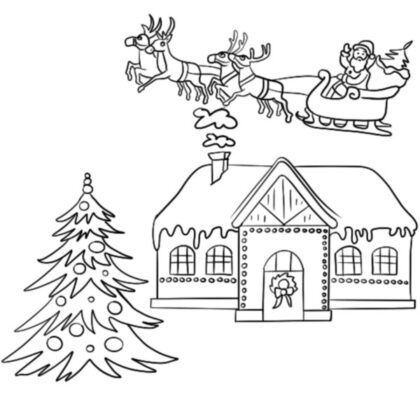 Christmas-House-Coloring-Book