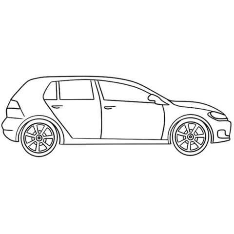 Easy Car Coloring Book