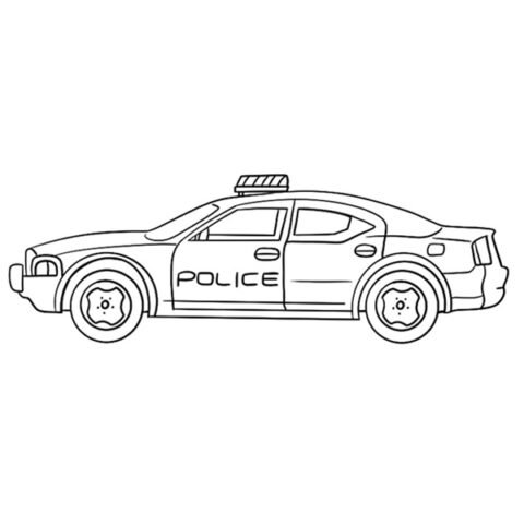Police Car Coloring Book