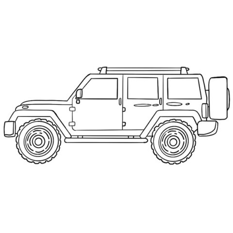 SUV Car Coloring Book