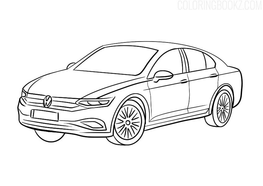 Volkswagen Passat Coloring Page