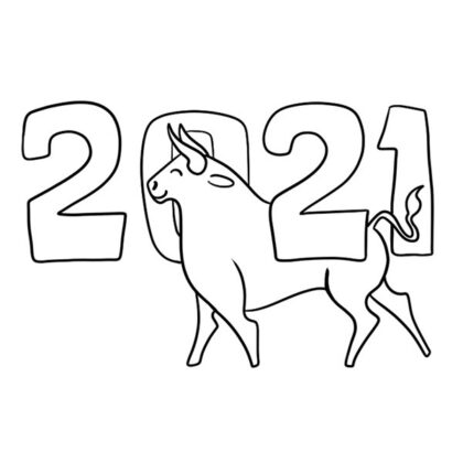 2021 New Year Coloring Book