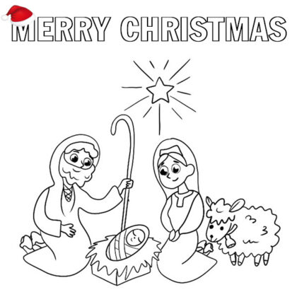 Christmas 2021 Coloring Page