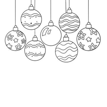 Christmas Balls Coloring Book