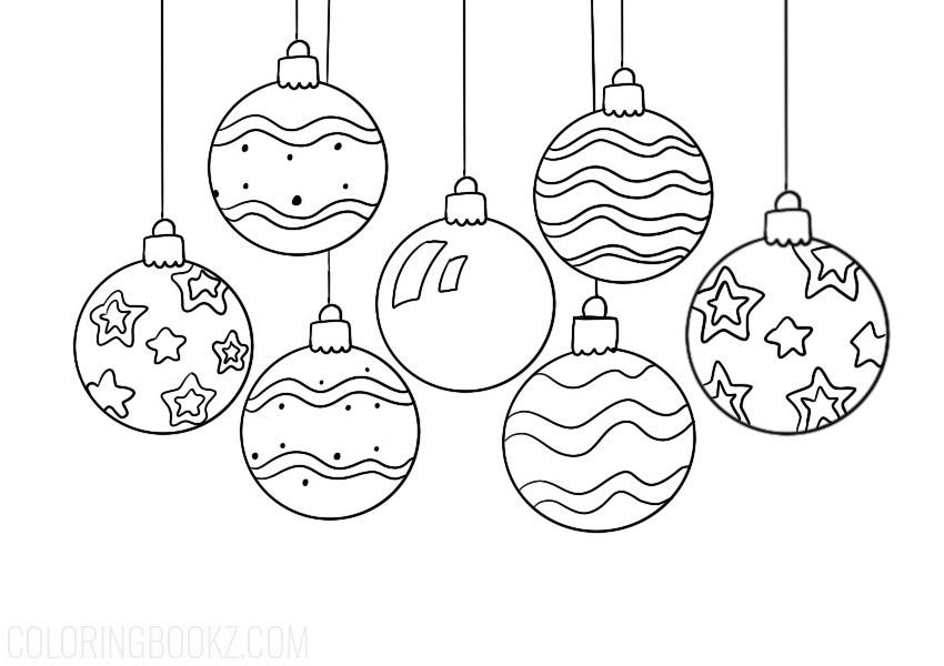 Christmas Balls Coloring Page
