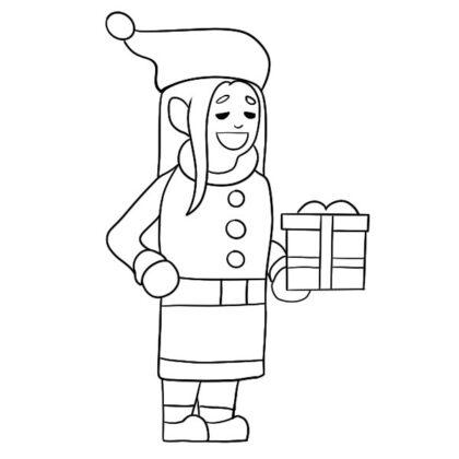 Christmas Elf Coloring Book