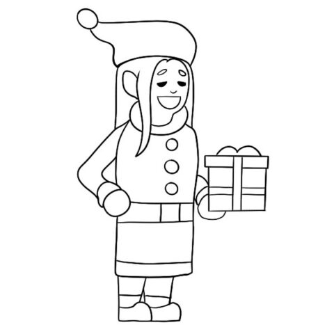 Christmas Elf Coloring Book