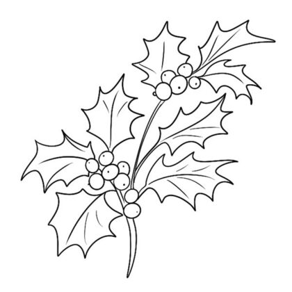 Free Printable Christmas Holly Coloring Book