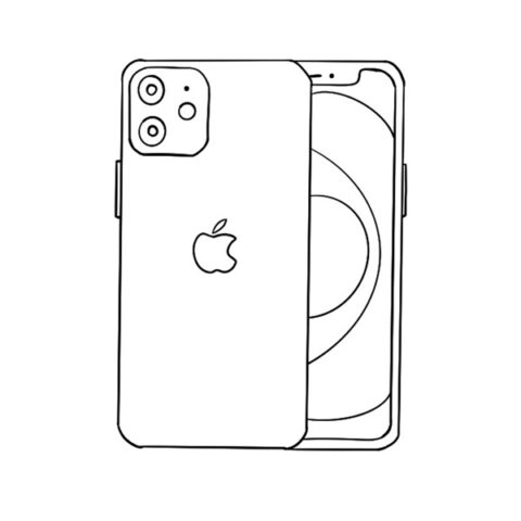 Iphone 12 Coloring Book