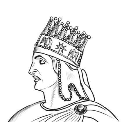 Tigranes II the Great Line art coloring pages