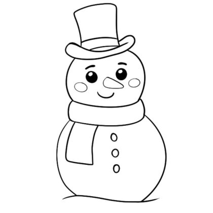 snowman coloring book free pdf