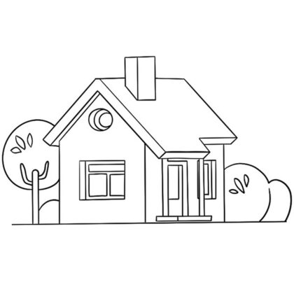 Free Printable House Coloring Book