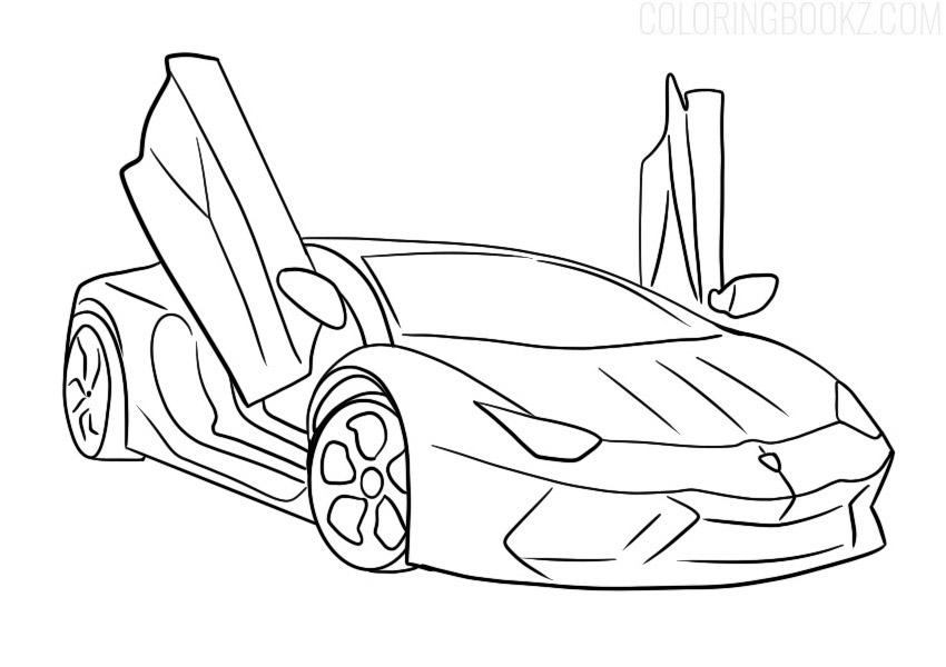 Lamborghini Aventador Colouring Page