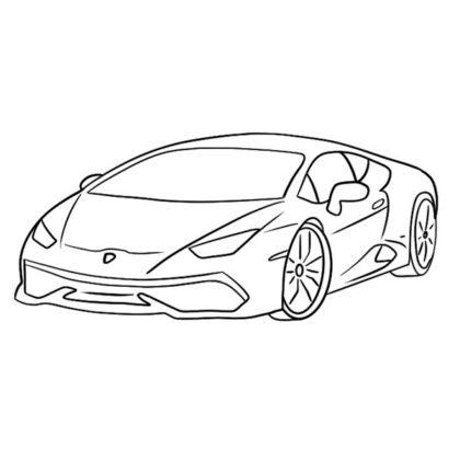 Lamborghini Huracan Colouring Book