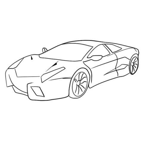 Lamborghini Reventon Coloring Book