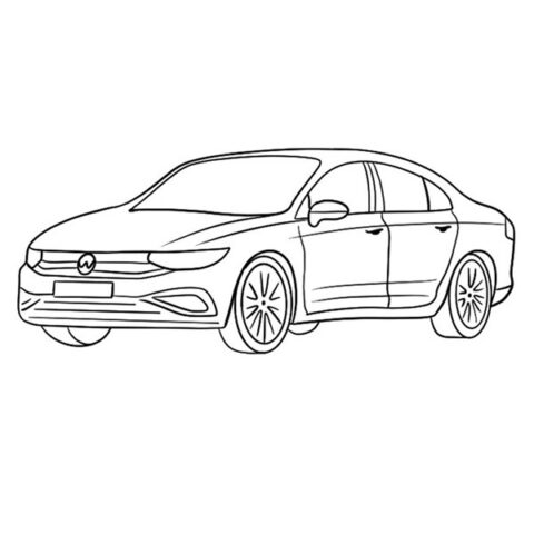 Sedan Car Coloring Book