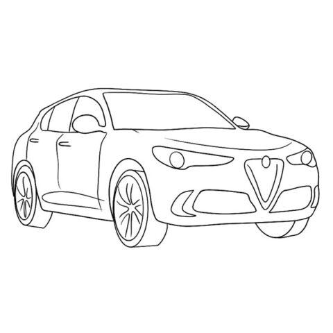 Alfa Romeo Stelvio Coloring Book