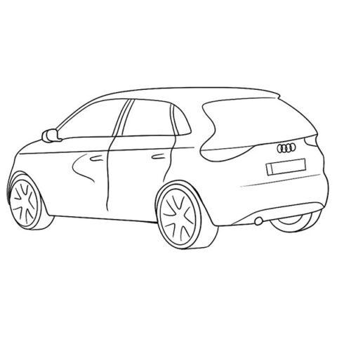 Audi A2 Coloring Book
