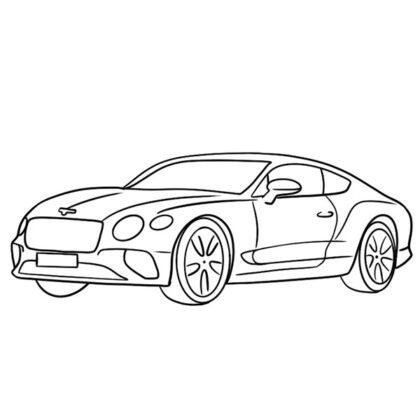 Bentley Continental GT Coloring Book