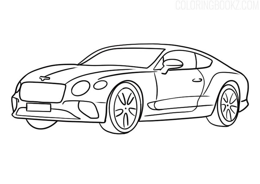 Bentley Continental GT Coloring Page