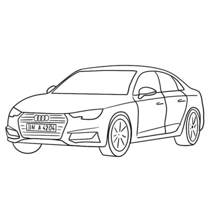 Audi A4 Coloring Book