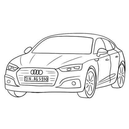 Audi A5 Sportback Coloring Book
