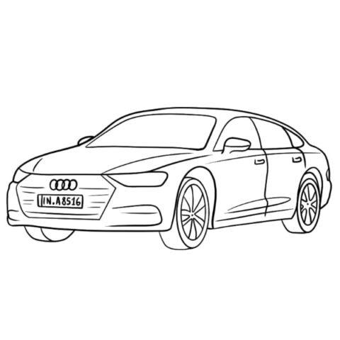 Audi A8 Coloring Book