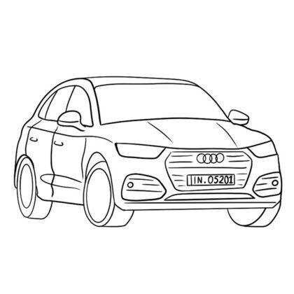 Audi Q5 Coloring Book