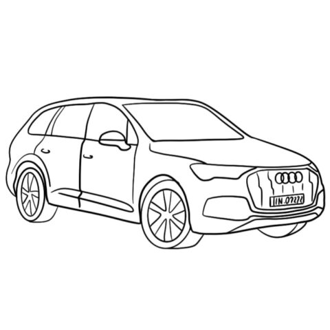 Audi Q7 Coloring Book