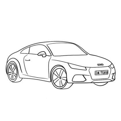 Audi TT Coloring Book