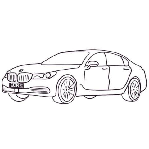 BMW 7 Series Coloring Sheet