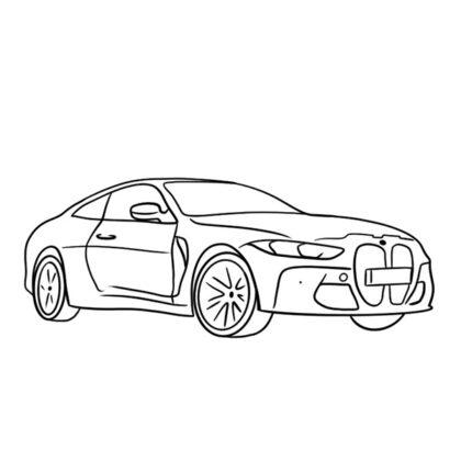 BMW M4 Coloring Book