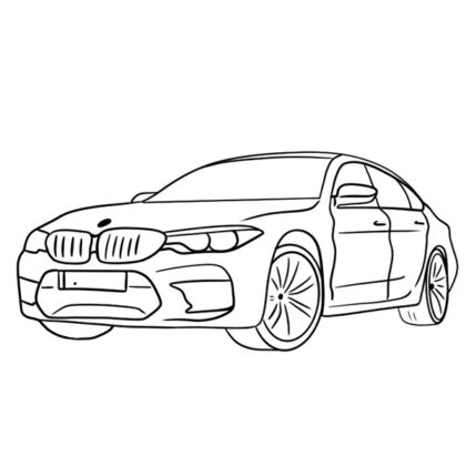 BMW M5 Coloring Book
