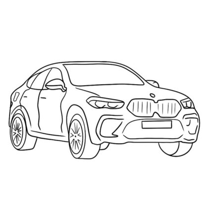 Easy BMW X6 Coloring Book