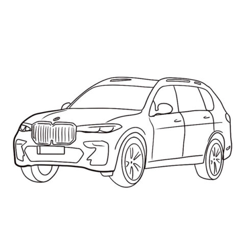 BMW X7 Coloring Book