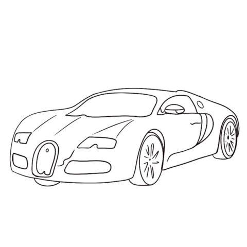 Bugatti Veyron Coloring Book