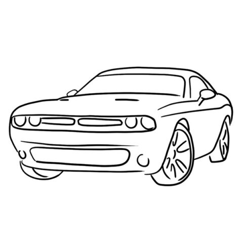 Dodge Challenger Coloring Book