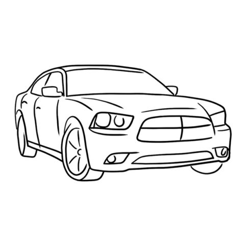 Dodge Charger Coloring Book