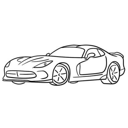 Dodge Viper SRT Coloring Book