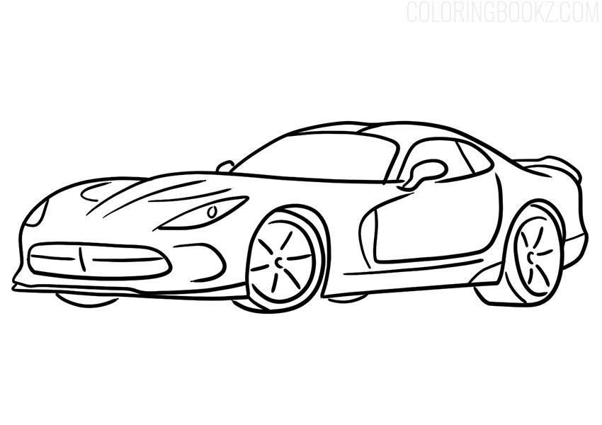 Dodge Viper SRT Coloring Page