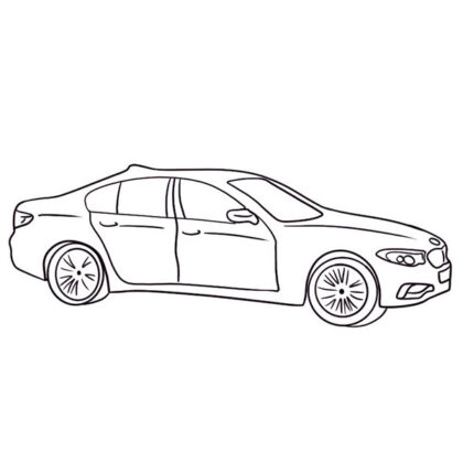 Easy BMW 5 Coloring Book