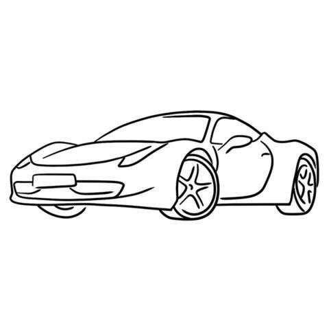 Ferrari 458 Italia Coloring Book