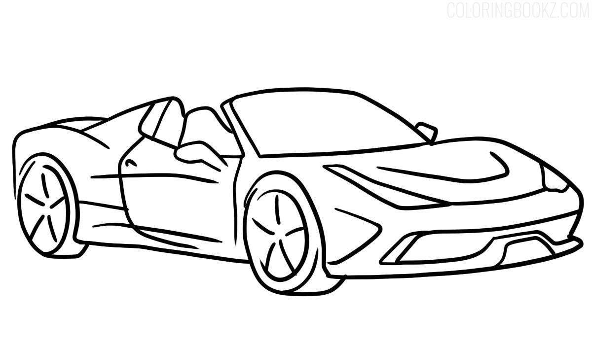 Ferrari 458 Speciale A Coloring Page