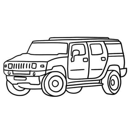 Hummer H2 Coloring Book