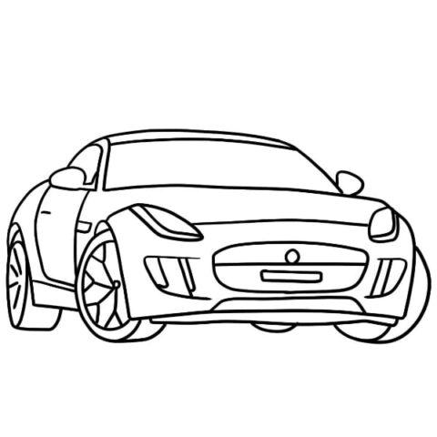 Jaguar F-Type Coloring Sheet