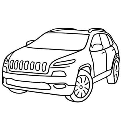 Jeep Cherokee Coloring Sheet