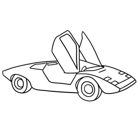 Lamborghini Countach Coloring Book