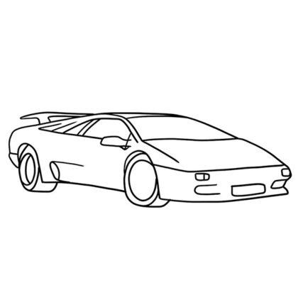 Lamborghini Diablo Coloring Book