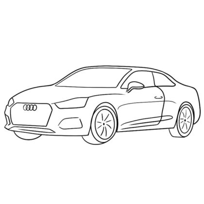 Audi A5 Coupe Coloring Book